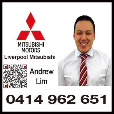 Mcgrath Mitsubishi Liverpool的華人銷售 Andrew林先生